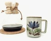 classic vintage mcm pottery mug | coffee cup