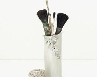 vintage studio pottery | handmade textural vase