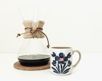 classic vintage mcm japanese pottery mug