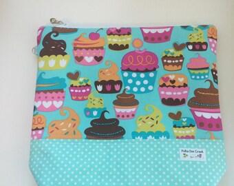 Aqua Cupcake Project Keeper Bag