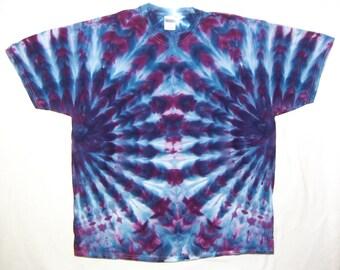 Tie Dye tshirt, Blue and Purple Adult 2XL