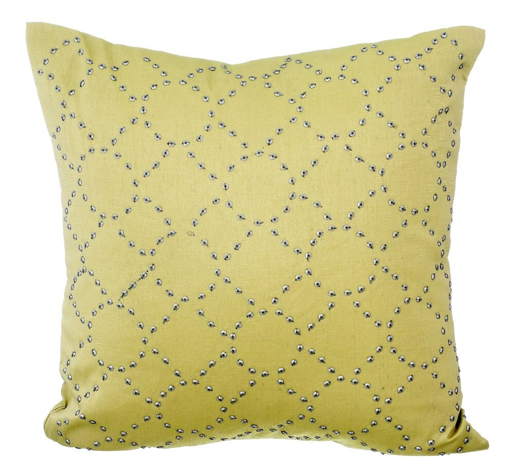 Yellow Linen Throw Pillow : DayDream Again Yellow Linen Decorative Throw Pillow Covers