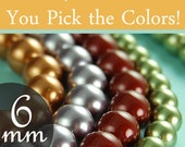 Swarovski pearl beads assorted diy kit 6mm round pearls, You pick the colors Style 5810