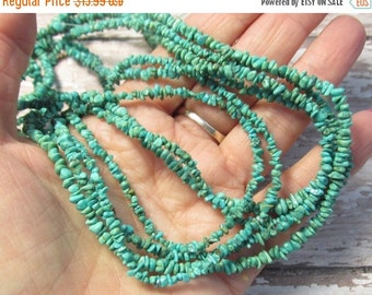 25% Off Sale Natural Kingman Arizona Turquoise Nugget Beads 4mm, Itsy Bitsy Small Size, 16 Inches