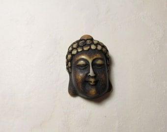 Buddha Head Resin Bone Ivory Pendant Briolette Bead