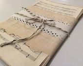 24 pcs Sheet Music Bundle Melodie blank backs music pages