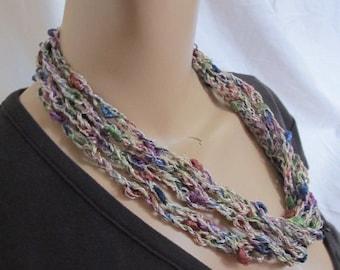 SALE - Gorgeous Metallic Chain Link Cowl/Necklace (5165)