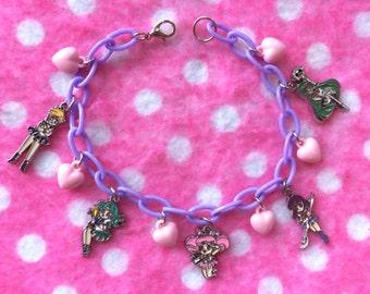 Sailor Moon Outer Scout Charm Bracelet