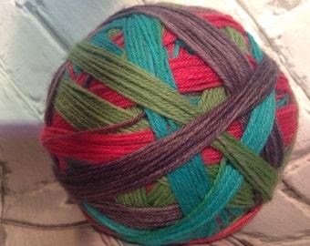 Rue   Hunger games inspired self striping sock yarn