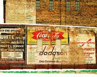 Old Ad Wall, ghost signs, Grand Rapids, Michigan, color photography, PoM team, PoE team