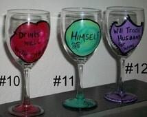 BOGO funny wine saying wine glasses