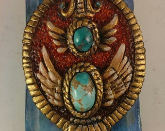 Double winged Turquoise Pendant