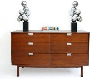 Summer Sale Bassett Mid Century Modern 6 Drawer Dresser George Nelson Style