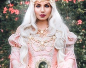 Sample Sale! Rose Pink Sleeping Beauty Princess Medieval Fantasy Gown Cape Jewelery Sm/Med