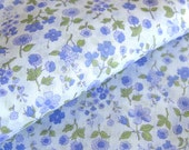 1970s Vintage Fabric - Sheer Floral Cotton Print - Pale Lavender Flowers Light-Weight Yardage