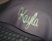 Kayla Personalized Travel PIllowCase Monogram Travel PIllow Case - Fits 12in X 16in Pillow Insert Name or up to 3 initials