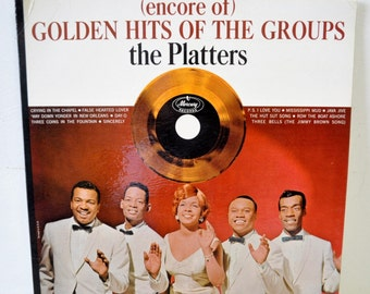 1960s vintage LP album / Golden Hits of the Groups THE PLATTERS