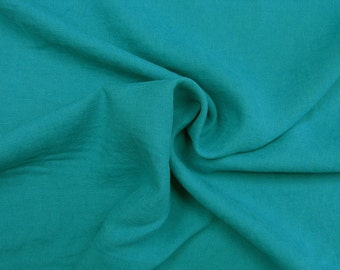 Linen •  turquoise • pure solid linen Fabric 0.54yd (0,5m) 002433