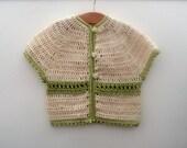 Crochet Pattern Seamless Top Down Baby Girl Cardigan Jacket Sweater - Mia a seamess top down yoked cardigan (7 sizes baby - teen)