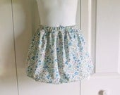 Girls Bubble Skirt in Sevenberry Florals blue pink purple floral petite floral robert kaufman - sizes 18 mos to 6