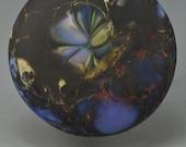 Just Beyond Dusk ... glass CABOCHON artsy organic lampwork jewelry designer cabs  by GrowingEdgeGlass/ Mikelene Reusse
