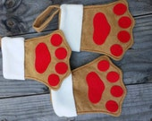 15 Paw Print Stockings/Treat Bags/Gift Card Holders - FREE SHIPPING