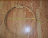 """Vintage Very LARGE Quilting Wooden 22"""" Hoop - Gibson"""