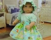 Merry Meadow - Bitty Baby dress with bonnet