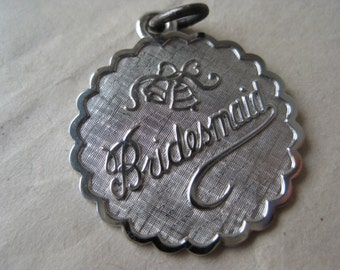 Bridesmaid Sterling Charm Silver Vintage 925 Gift Wedding