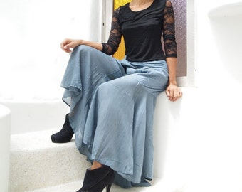 Enchanted pants (148) in cotton mixed with silk and rayon in 2 sizes