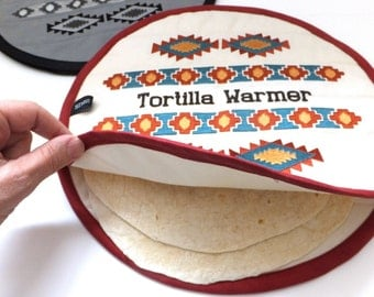 Southwest Borders Embroidery Designs sc102d and Tortilla Warmer Sewing Directions in PDF