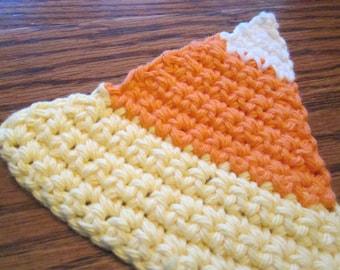 Large Crochet Candy Corn Applique