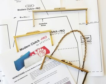 3 Purse Frames w/Patterns - Small, Medium, & Large - Modern Clutch - PRO X3 Sampler Set
