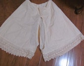 Antique Vintage Lacy Bloomers, Antique Lingerie,Undergarmet