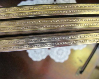 Wow...Lowered Price Trifold Gold Metal Retro Picture Frames, Weddings,