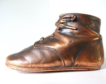 Vintage Coppered Baby Shoe