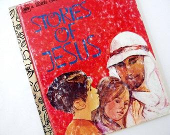 Vintage 1970's Childrens Book - Stories of Jesus - Little Golden Book, Richards and Forberg