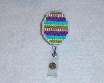 Easter Egg Retractable Badge Clip