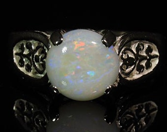 Natural Opal 1.38 ct Handset in .925 Sterling Ring  -  NOW  on  SALE  -  Fast Free Shipping with gift wrap