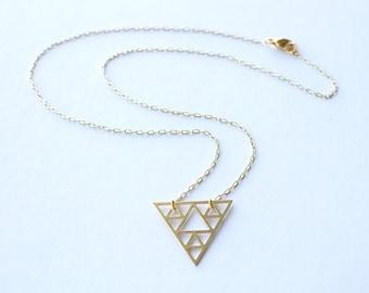 Sierpinski Triangle Necklace | ATL-N-122