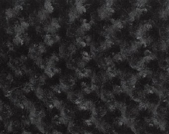 STORE CLOSING - Black Minky Fabric - Minky Swirl - Rose Bud Minky fabric by the yard
