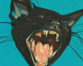 "Black Pussy 2 - Fine Art Print by Jonny Ruzzo - 13"" x 13"""