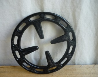 Vintage cast iron stove top burner, stove grate, art, steampunk, upcycle, recycle, repurpose