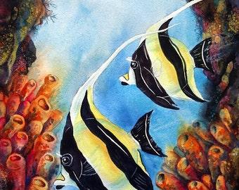 Saltwater Fish Art Etsy