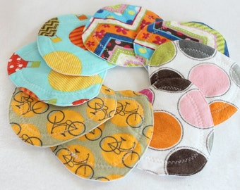 Nursing pads, Flower Petal/triangle shape nursing pads, waterproof, washable, reusable,  nursing  breast pads, flannel ,zorb,pul,4 pair