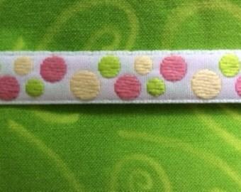 Tropical Dots ribbon : 3 yard
