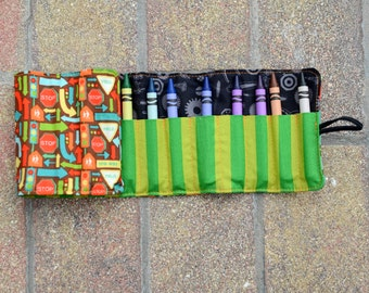 Road Map Crayon Roll - FREE Shipping