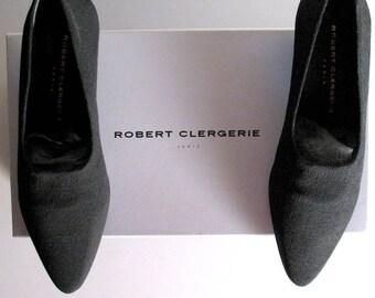 ROBERT CLERGERIE black neoprene low heel, 6.5, 7