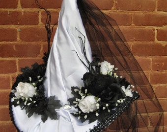 Elegant Witch Hat Bewitching Black & White