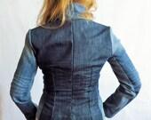 Vintage denim jeans jacket blazer